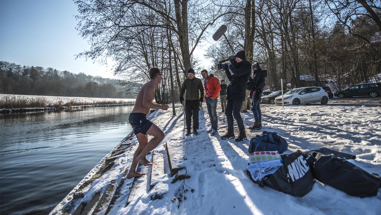 Vor Ort Eisbaden, Florian Weiss, Kamerateam, Filmproduktion